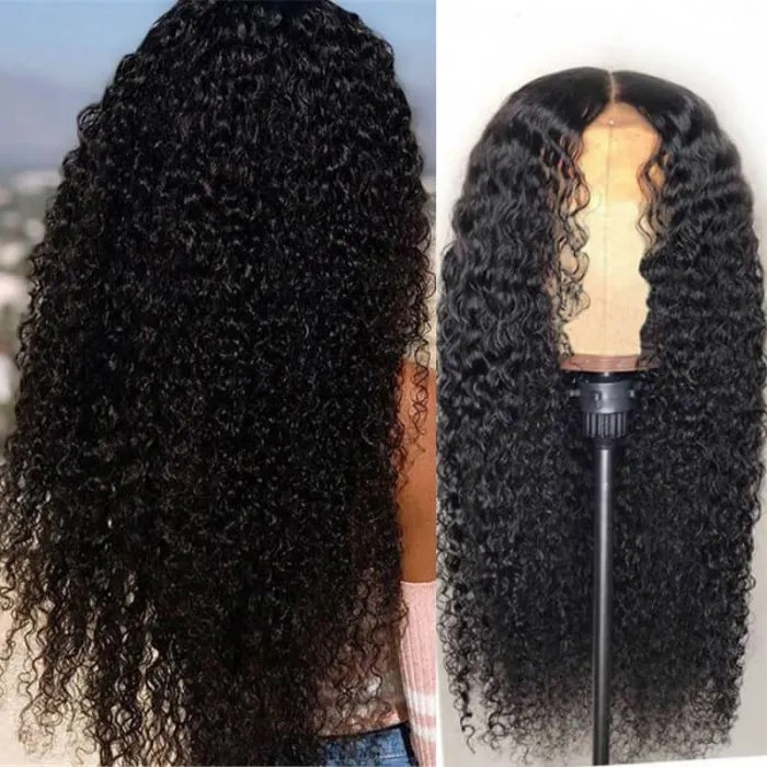 Unice Hair Pre Plucked Curly Full Lace Wig Remy Human Hair Curly