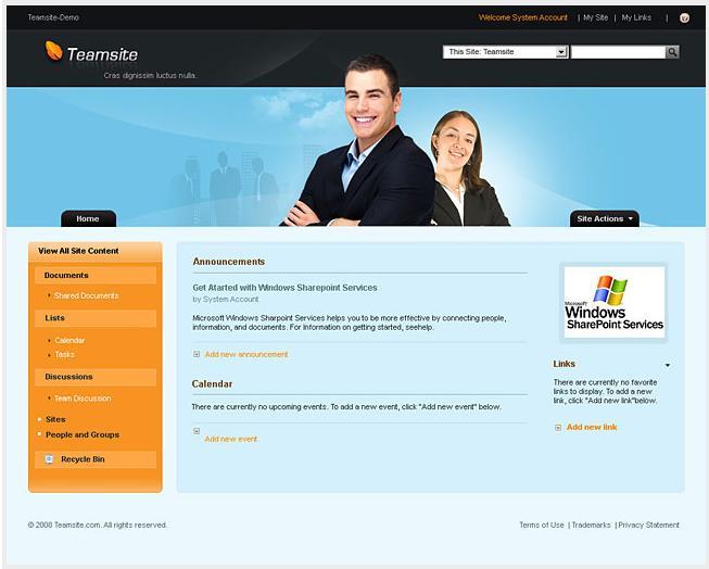 dynamic websites design samples