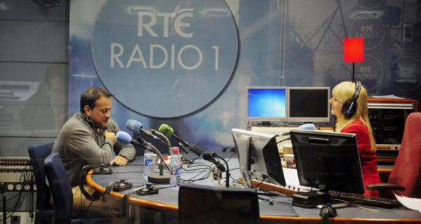 Minister Leo Varadkar and Miriam O'Callaghan on RTÉ Radio 1 studio