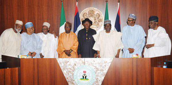 Jonathan Holds Last Council Meeting, Passes Brown Envelope to Buhari