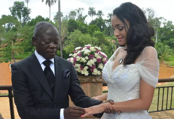 Mixed Reactions Trails Oshiomhole and Lara Fortes' Wedding