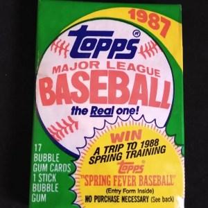 1987 Topps Baseball Card Packs