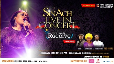 Photo of Get Your Praise on with Sinach Live in Concert on Valentine's Day