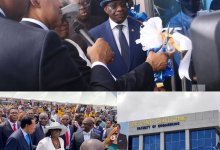 Photo of Pst. Chris Commissions N1 Billion Faculty of Engineering for Benson Idahosa University.