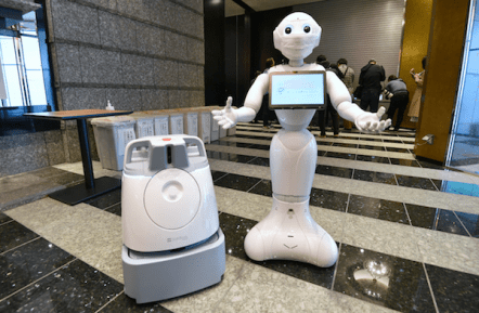Pepper is a semi-humanoid robot manufactured by SoftBank Robotics
