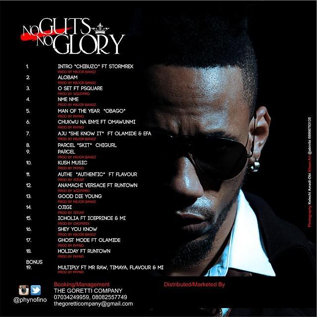 phyno no guts no glory album cover tracklist