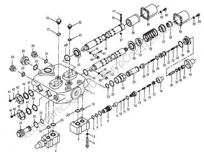 Запчасти для фронтального погрузчика XCMG LW500F каталог