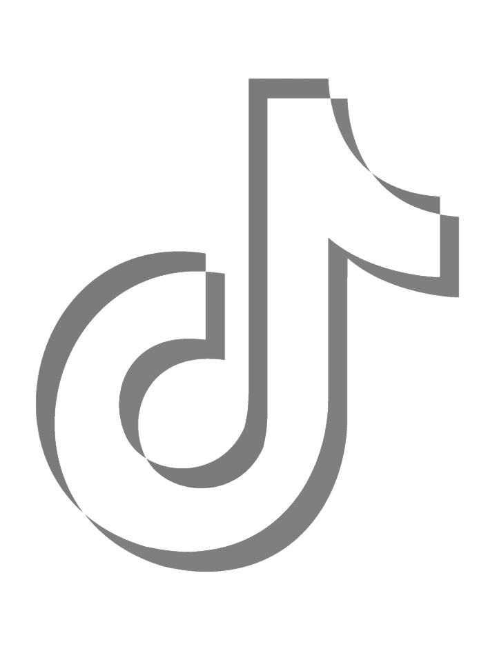 Tiktok Black And White Logo : tiktok, black, white, TikTok, Coloring, Pages, XColorings.com