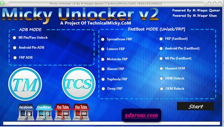 Micky Unlocker Tool V2 All Android FRP Lock Remove Tool 100% Tested