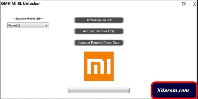 Xiaomi Mi Bootloader Unlock tool
