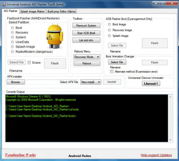 Universal Android Flasher Tool V1 40 Update Download