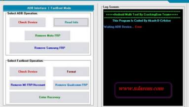 Android Multi Tools V1 02 2019 Pattern/Password Remover 100