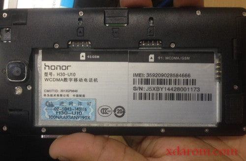 Huawei H30-U10 Scatter File