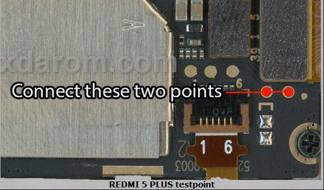 Xiaomi Redmi 5 Plus Test Point