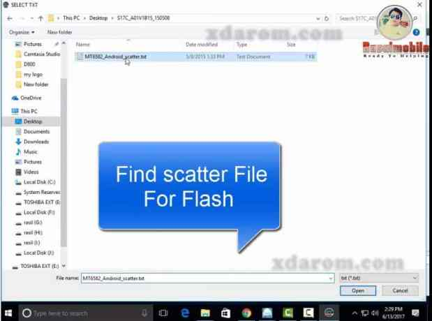 Select Scatter File