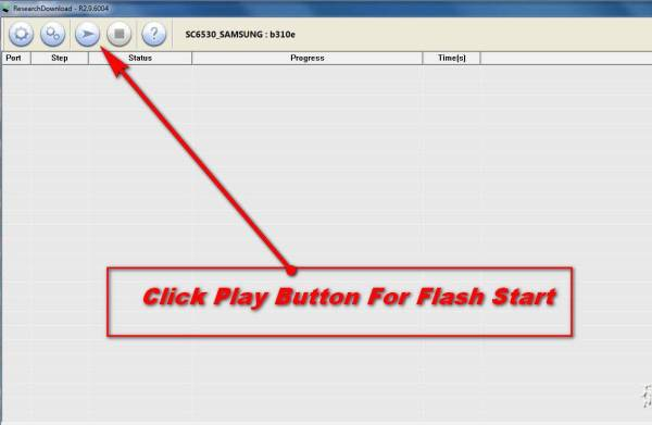 Click Play Button For Flash Start