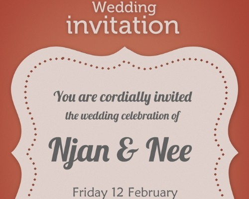 Wedding Invitation Card Template Psd Free