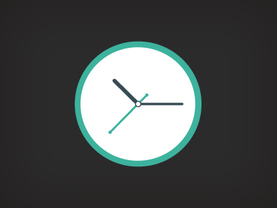 Free PSD Clock Flat Design XDesigns