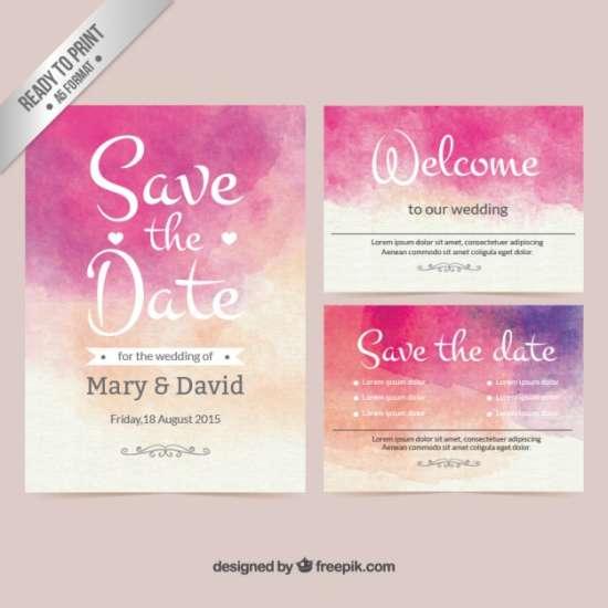 Free Watercolor Wedding Invitation Template