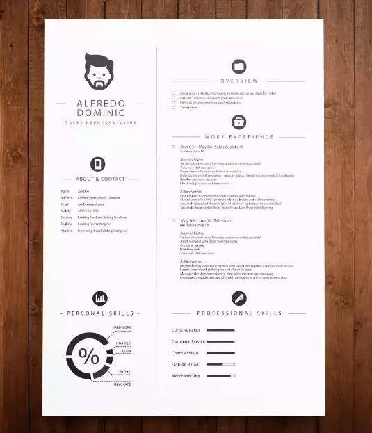 22 FREE Minimalist  Simple Resume Templates  XDesigns