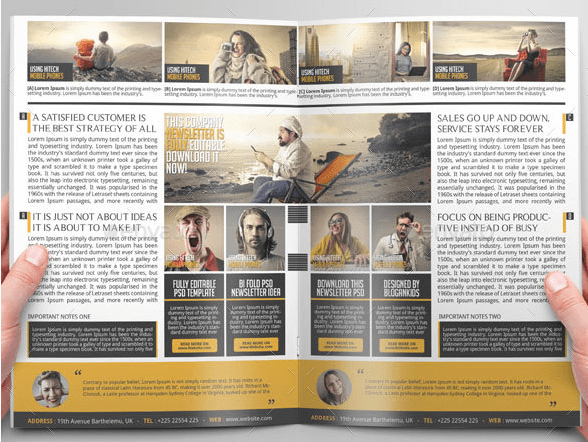 20 Free Business Newsletter Templates  XDesigns