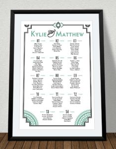 Art deco wedding seating chart also beautiful ideas templates xdesigns rh