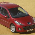 Peugeot 207 Gti Thp 175 Restyled In Red Top Pose Wallpaper