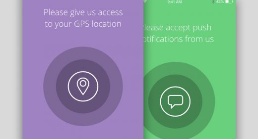 iOS Permission screens
