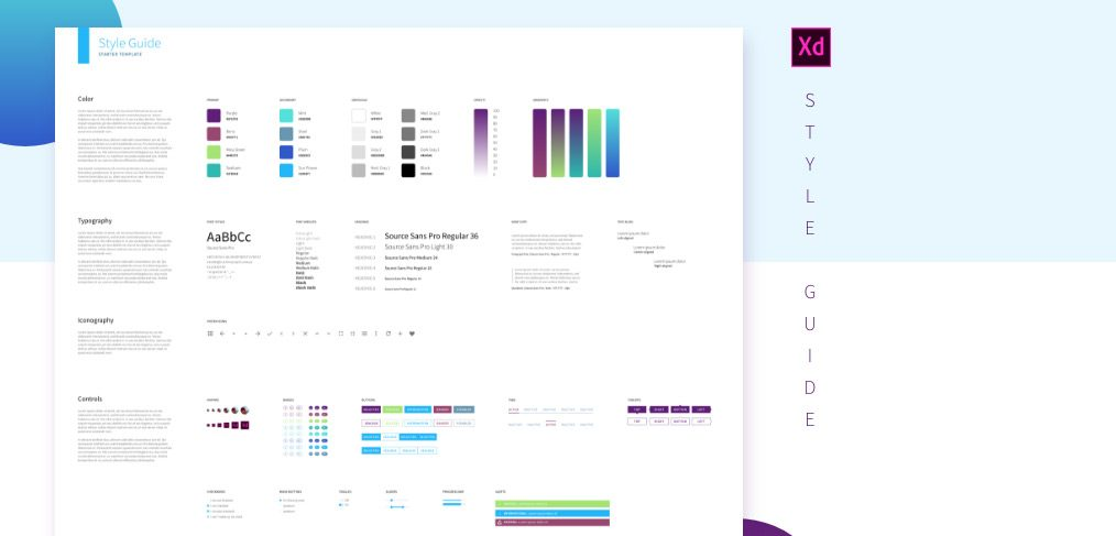 xd style guide template
