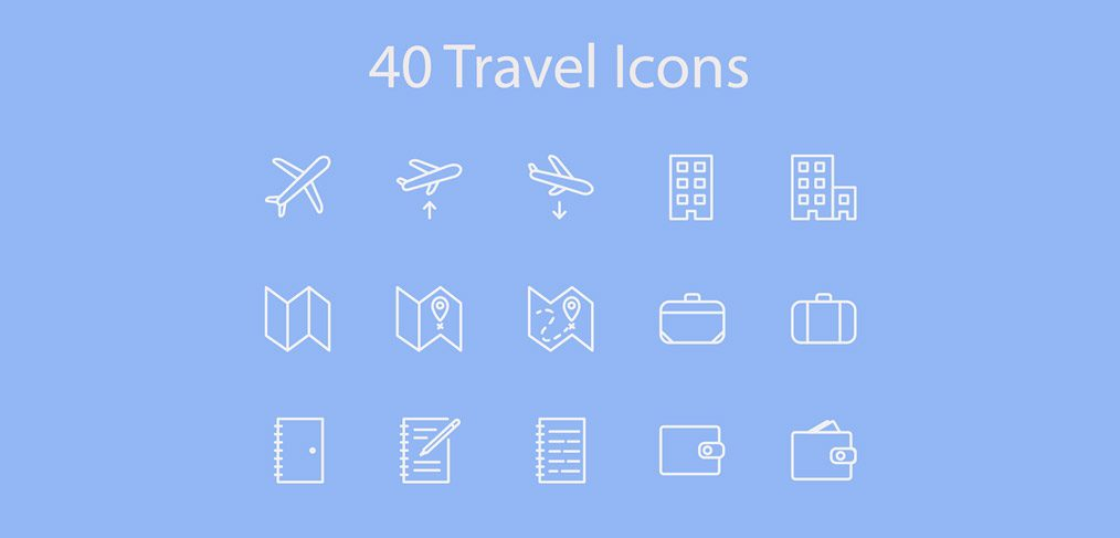 40 travel icons xd