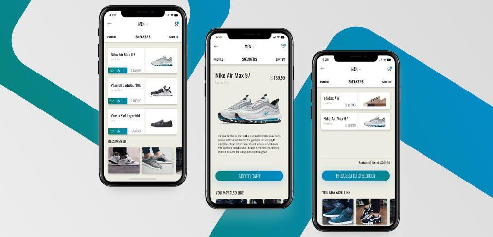 shoes app xd