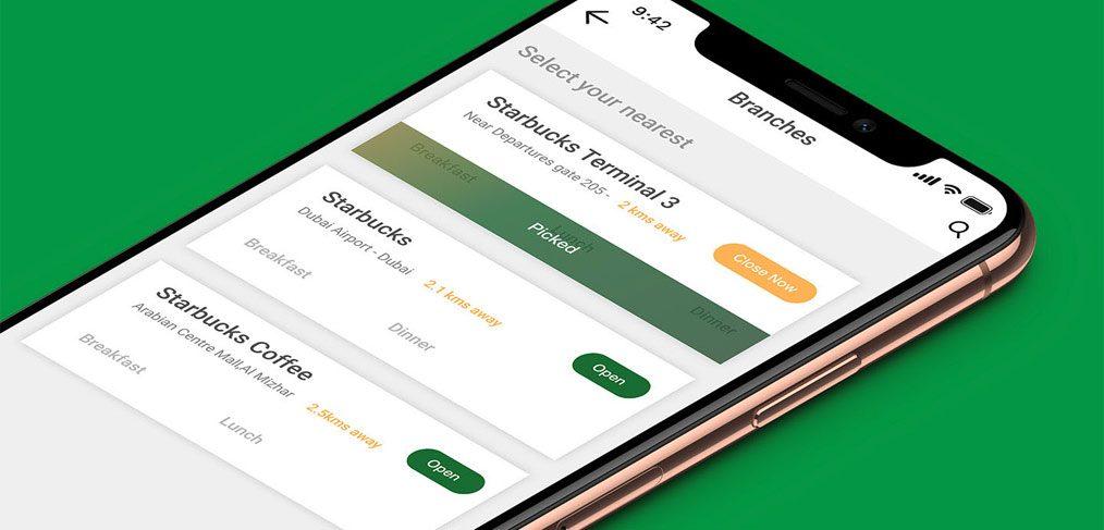 starbucks mobile app xd