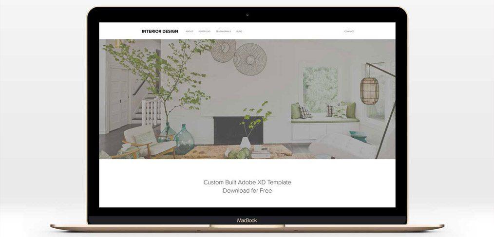 Minimal Adobe XD Web Template
