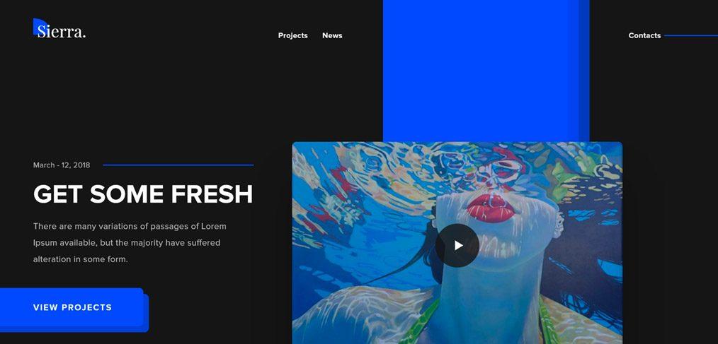 Sierra Personal Website Portfolio XD