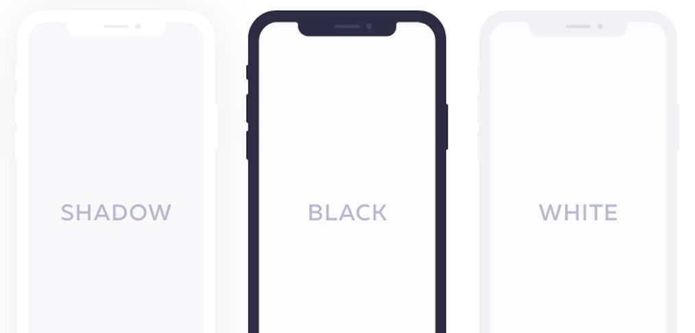 Flat iPhoneX Device mockups for adobbe xd