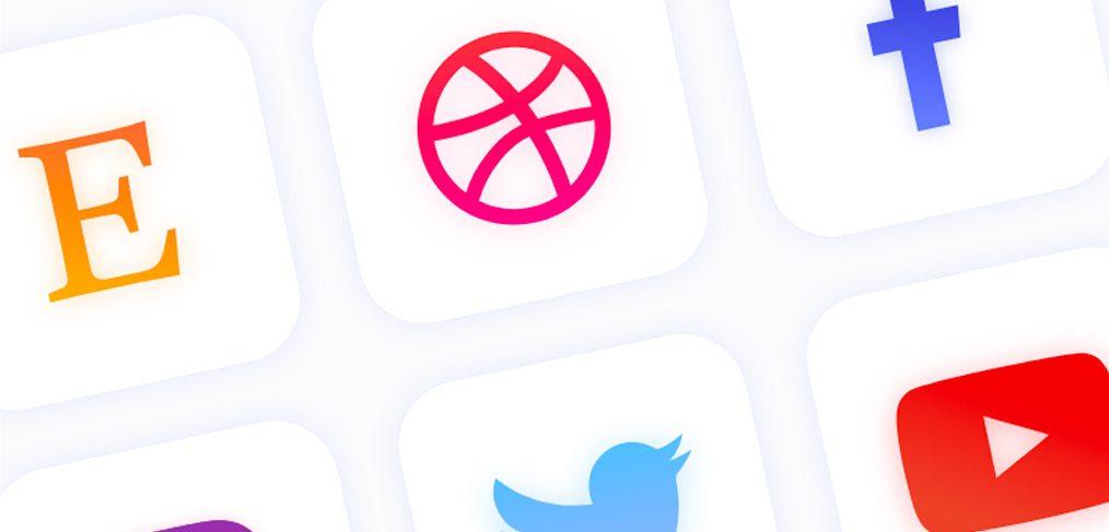 Social Media Icons set for Adobe XD
