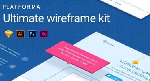 platforma wireframing kit adobe xd