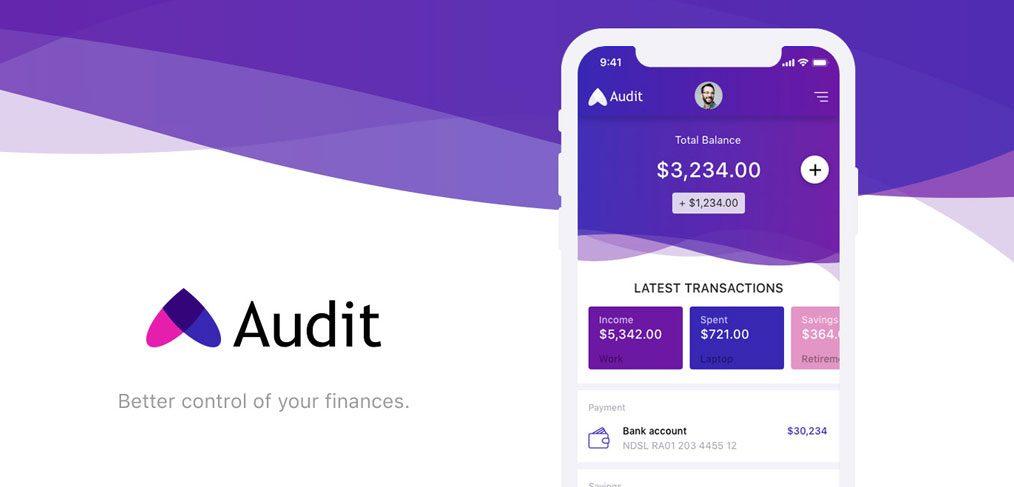 Audit Finance app UI kit
