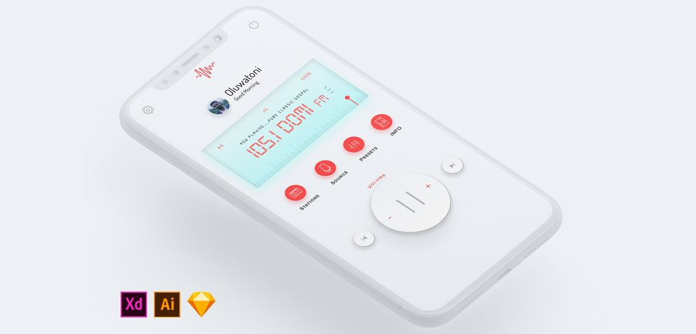 Mobile Radio UI concept Light