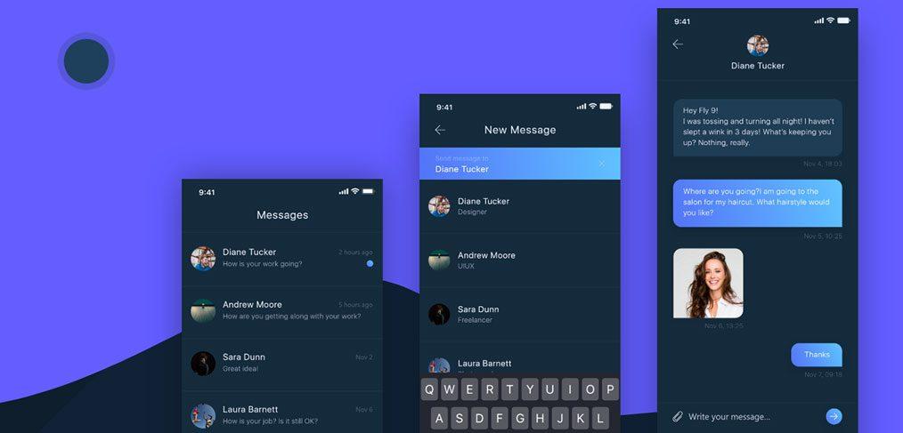 Messenger Dark Theme Concept