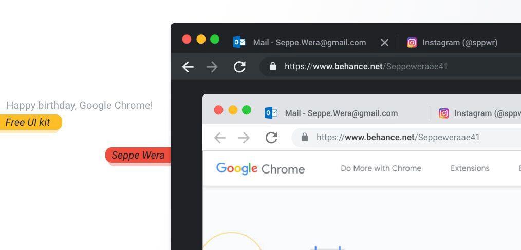 New Chrome XD Mockup
