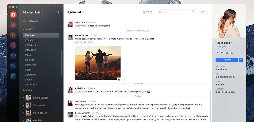 Chat Desktop App Freebie