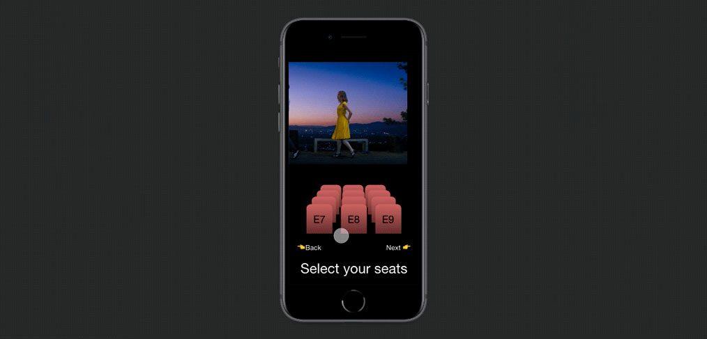 Cinema seat selection animation