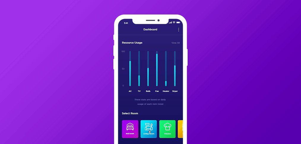 IOT app concept animation