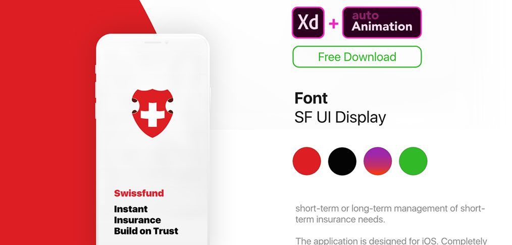 Free Insurance App Animated Template