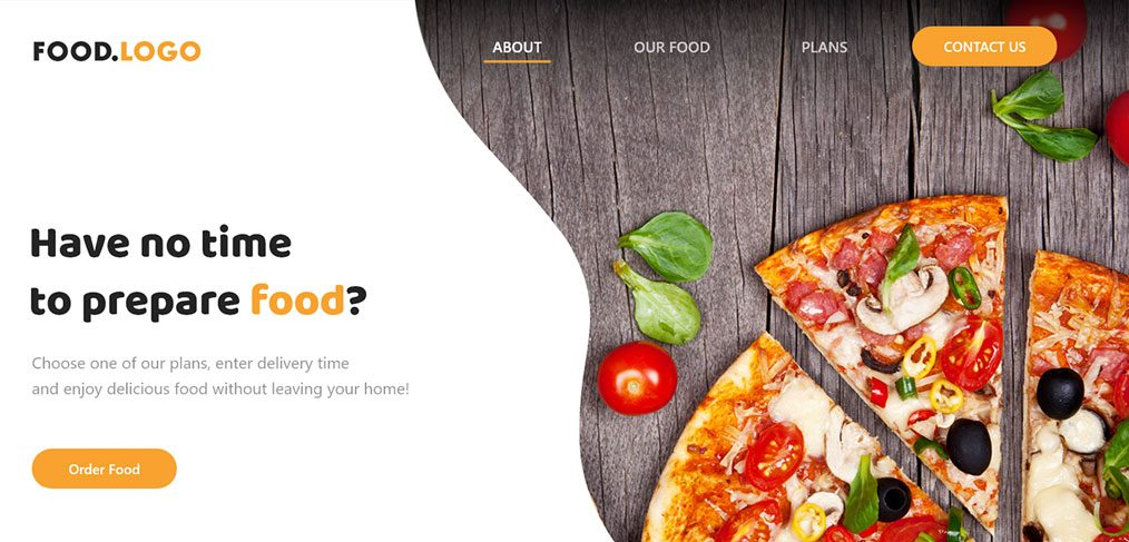 Adobe XD food website template