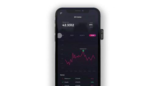 Crypto wallet chart animation