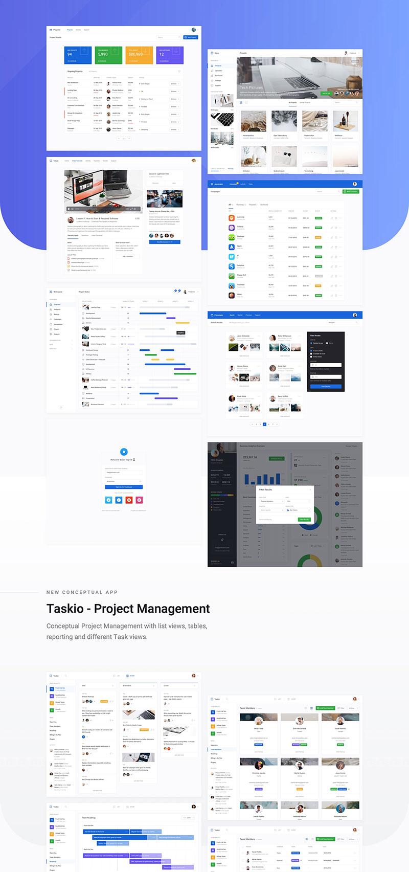 Dashboard UI Kit 3.0 for Adobe XD