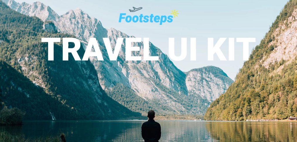 Footsteps - Adobe XD free UI kit