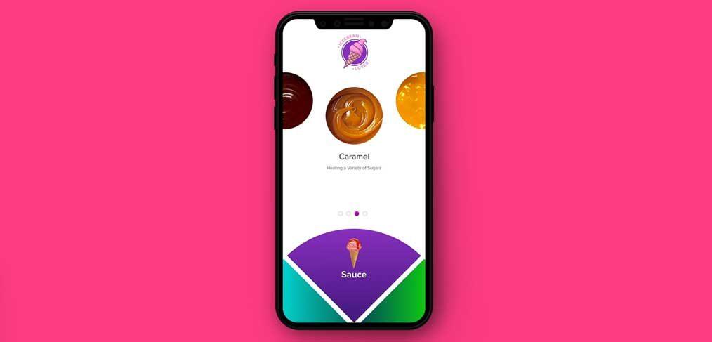 Ice cream generator app concept
